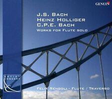 JOHANN SEBASTIAN BACH, CARL PH.E. BACH, HEINZ HOLLIGER: WORKS FOR FLUTE SOLO (NE