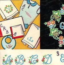 Hand Embroidery Transfer 677 Monogram Alphabets Abcs for Handkerchief Scarf Bib