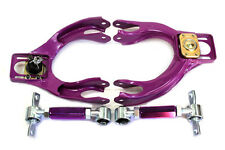 92-95 Honda Civic EJ EG EH Front Upper Control Arm +  Rear Camber Bar Kit Purple