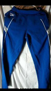 Brooks Women's Sz S Vintage Running Royal Blue Retro Warm up Track Pants Zippers