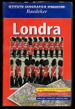 LONDRA DE AGOSTINI BAEDEKER 2002 GUIDA+CARTA STRADALE 1:15.000+ITINERARI E UTILI