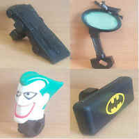 McDonalds Happy Meal Toy 1996 Batman Bicycle Plastic Accessories Toys - Various