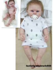 "22"" Boy Washable Newborn Toddler Gifts Bebe Dolls Full Body Silicone Reborn Baby"