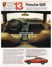 1982 Porsche 928 Red No. 13 in a Series Vtg Print Ad