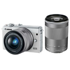 Canon EOS M100 Mirrorless Digital Camera with 15-45mm with 55-200mm Lenses White