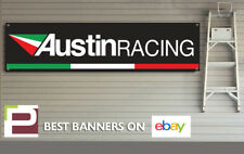 Austin Racing Exhaust Banner for Garage, Yamaha, Ducati, Suzuki, Kawasaki etc