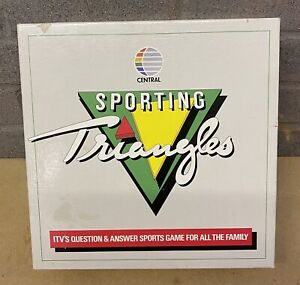 VINTAGE SPORTINGH TRIANGLES GAME-CENTRAL 1987 100% COMPLETE