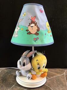"16 1/2"" Baby Looney Tunes LAMP Bugs Bunny Tweety Bird PLUSH TOYS Taz WORKS"