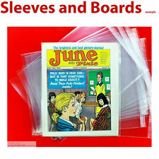 Comic Bags Only For Comics Like June and Pixie British Comic Size4 New x 10