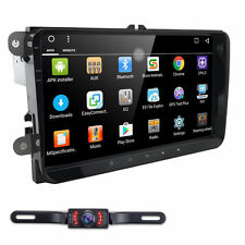 "Camera+Android 9""Car Radio Stereo GPS Nav Touch Screen fit for VW Skoda Seat HD"