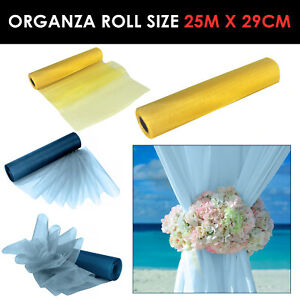 Lemon Teal Organza Fabric Rolls Wedding Party Decor Chair Bows Table Runner Sash
