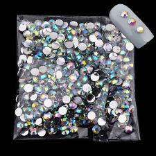 1000pcs 4mm Nail Art Glitter AB Rhinestone Crystal Gems Tools 3d Tips Decoration