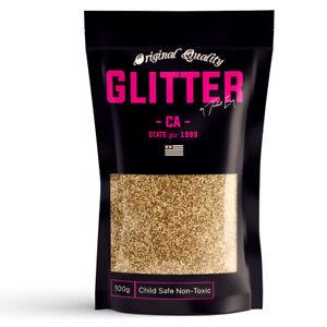 Light Gold Premium Glitter Multi Purpose Dust Powder 100g / 3.5oz