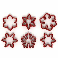 Snowflake Christmas Set of 6 Cookie/Fondant Cutters Biscuit Dough Icing Cake UK