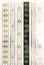 TEMPORARY TATTOO, una volta Tatuaggio, ORO TATTOO/snt-022-c, oro-Turchese CATENELLA