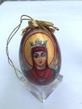 Decorative Russian hand painted wooden egg, perfect for Easter or Christmas