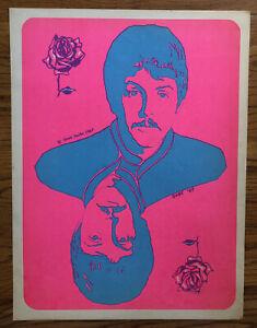 Steve Sachs Ringo Starr Original Vintage Blacklight Poster The Beatles 1967 60s
