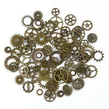 5 X Steampunk Alloy Gear Clock Parts Pendant Charms DIY Jewelry Findings DG