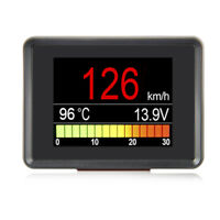 Digital Meter Alarm Speed Oil Water Temp Gauge OBD2 Speedometer Auto HUD A203
