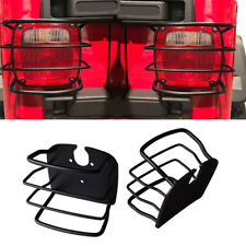 Pair Black Euro rear lights led taillights cover guards for jeep TJ wrangler