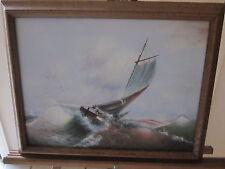 Adolphus George Broomfield ship/nautical vintage oil painting-Wonderful Detail!!