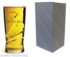 PERSONALISED STRONGBOW CIDER PINT GLASS-FATHERS DAY, BIRTHDAY