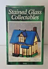 Vintage Holiday Creations Stained Glass Collectables Lighted Tavern House 1995