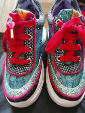 Irregular Choice Scrunchie Mint Glitter Platform Trainers Shoes size 4 37