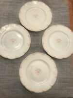 "c 1890's Set Of 4 Theodore Haviland Celadon China 8.75"" Luncheon Plates"
