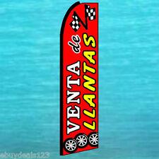 VENTA DE LLANTAS FLUTTER FLAG Tires Sale Advertising Sign Feather Swooper Banner