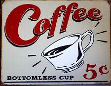 Platte Metall Vintage USA Coffee - 40 X 30 CM