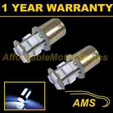 2X 207 BA15s CANBUS ERROR FREE WHITE 9 LED HI-LEVEL BRAKE LIGHT BULBS HBL201001