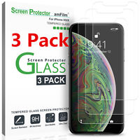 (3 Pack) For iPhone X XS XS MAS XR Tempered Glass Screen Protector HD Clear USA