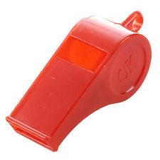 5 pz fischietti colorati in plastica con cordino per sport arbitro C1E3