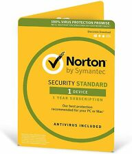 Norton Security Standard 1 Device 1 Year Genuine Sealed Retail Pack sent by Post
