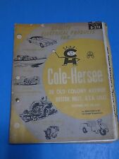 1976 ~ COLE - HERSEE ~ ELECTRICAL PRODUCTS / BOSTON, MASS.