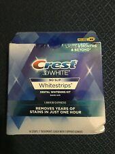 Crest 3-D WhiteStrips 1 Hour Express Dental Whitening Kit 14 Strips 7 Treatments