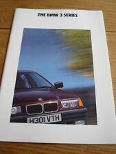 BMW 3 SERIES SALOON BROCHURE1991 jm
