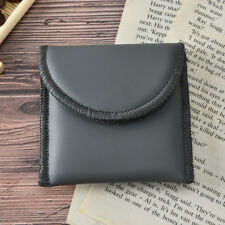 hearing aid carrying pouch bag holder small black pu leather material storage FZ