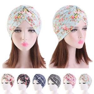 Muslim Women Caps Hat Headwear Head Scarf Pleated Flower Islamic Turban Arab New