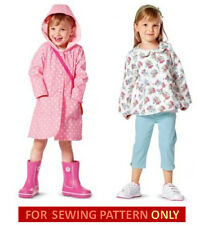 SALE! SEWING PATTERN! MAKE GIRL JACKET~HOODED COAT! SUMMER CLOTHES! SIZES 2~6 YR