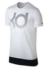 NIKE KD KEVIN DURANT WHITE DRI FIT GRAPHIC TEE T SHIRT MENS X LARGE NWT $40