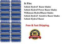 Schick Hydro5 Razor Blades fit Power Hydro Silk Shaver Refill Cartridges Hydro 5