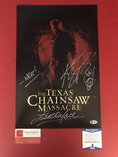 "Andrew Bryniarski signed 12"" x 18"" Texas Chainsaw Massacre Poster - Beckett COA"