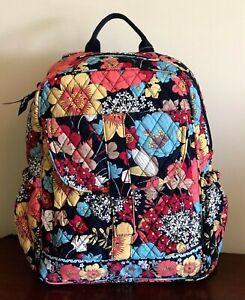 Vera Bradley Bookbag Backpack Happy Snails 14H x 11W x 4.5D NWT