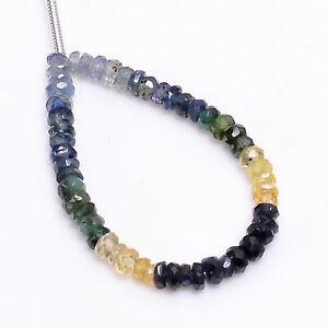 """Blue Sapphire Citrine Emerald Gemstone Rondelle Faceted Beads 3X3X2 mm Strand 3"""""""