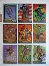 1997 FLEER/SKYBOX MARVEL vs WILDSTORM COMPLETE 9 CARD *CLEARCHROME* CHASE SET