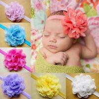 New Infant Baby Girls Lace Hair Band Headwear Flower One Size Headband 10 Colors