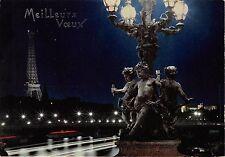 Br870 France Paris le Pont Alexandre Tour Eiffel illuminee
