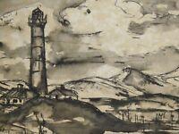Ehrich TURLACH (1902-1996) - Nordsee - Aquarell: DER LEUCHTTURM AUF SYLT